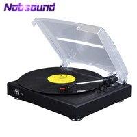 Nobsound Hi-Fi 3-Speed Stereo Pikap LP vinil plak çalar/PC USB Kayıt/AUX ÇıKıŞı