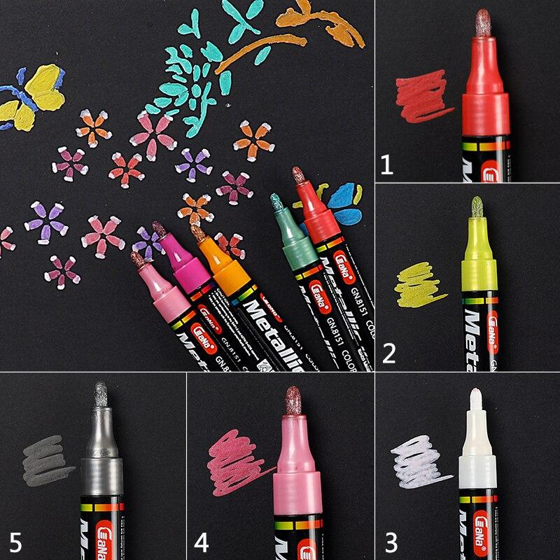 Tyre Permanent Paint Pen Tire Metal Outdoor Marking Ink Marker Trendy 11 Colors