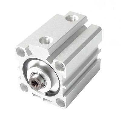 Pneumatic 32mm Bore 30mm Stroke Compact Thin Air Cylinder Silver Tone SDA32x30 самокат micro kickboard compact silver