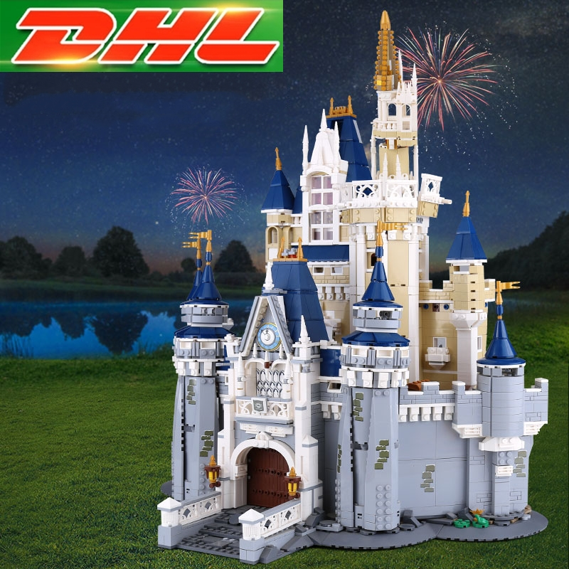 LEPIN 16008 Cinderella Princess Castle City set 4080pcs Model Building Block Kid Education Toy Birthday Gift Compatible 71040