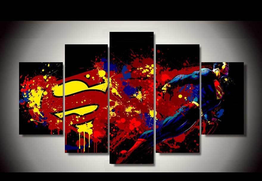 Süpermen Boyama Kağıtları Resimleri