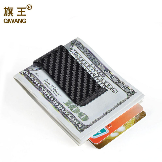 Suiza hombres a 100% de fibra de carbono Real Clips de dinero Cartera de fibra de carbono de lujo Slim Clip de dinero de alta calidad Clip cartera