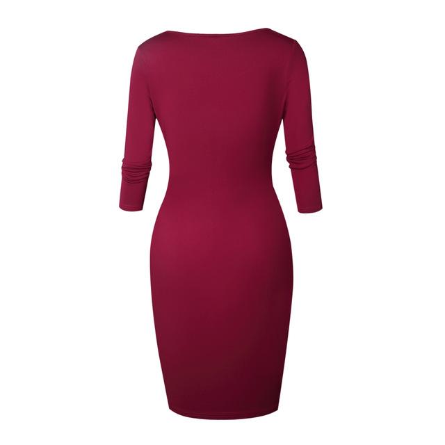 Women Sexy Club Low Cut Bodycon Dress Red Velvet Sheath 2018 Spring Winter Zipper Pack Hip Wear Party Dresses Black Vestidos