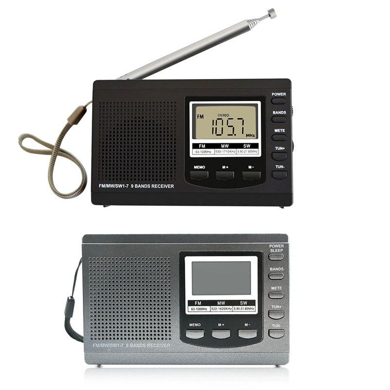Unterhaltungselektronik Radio LiebenswüRdig Digital Wecker Mini Radio Fm/mw/sw Mit Digital Uhr Fm Radio Empfänger Uhr Radio 1 Stücke Heißer Verkauf ZuverläSsige Leistung