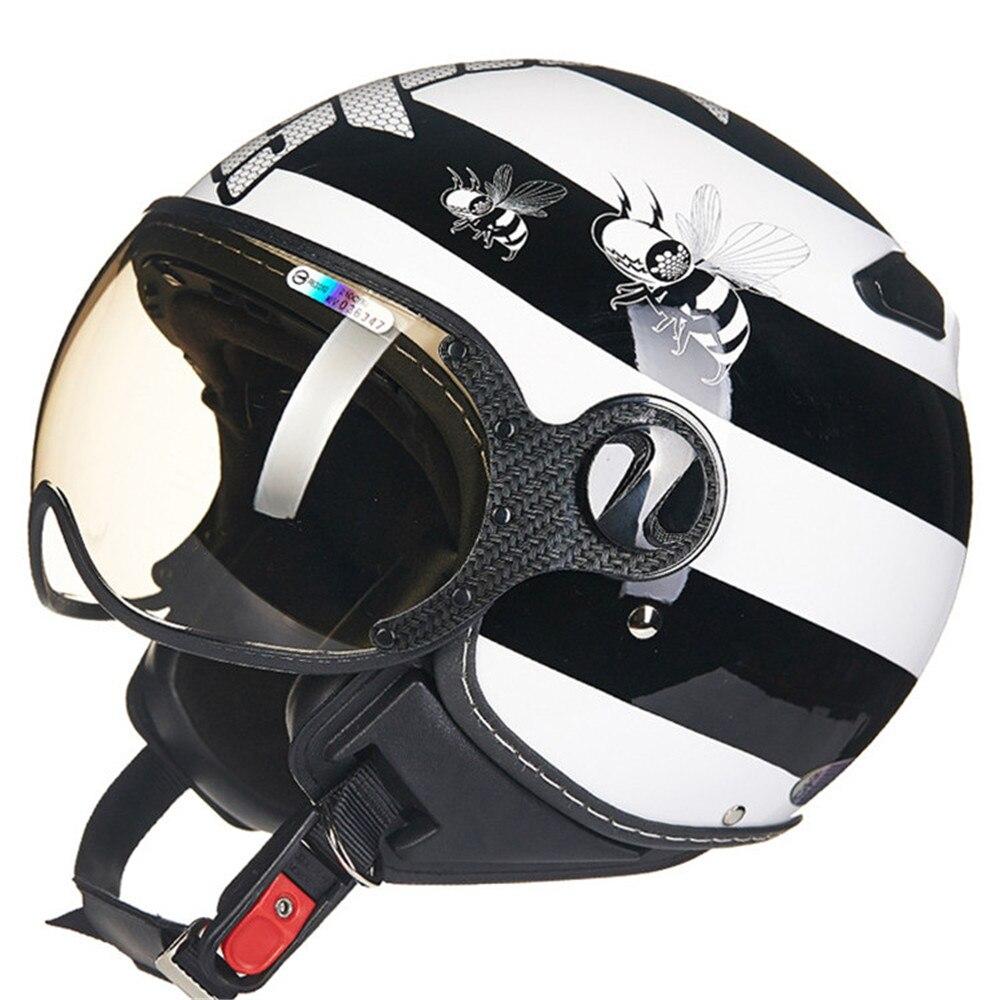 Fashion Motorcycle Helmet Chopper Open Face Vintage Helmet HZ210C Moto Casque Casco motocicleta Capacete Pilot Men Women Helmets