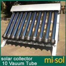 10 tahliye tüpleri, güneş enerjisi kolektörü güneş sıcak SU ISITICI, vakumlu tüpler, yeni