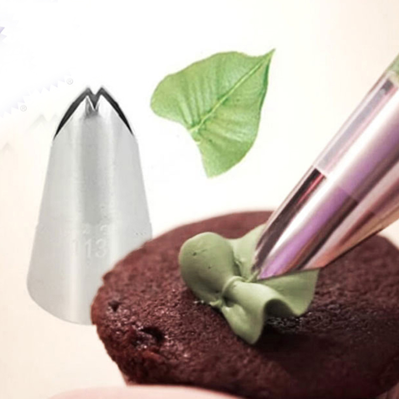 #113L Leaves Big Decorating Tips Stainless Steel Icing Piping Nozzles Cake Decorating Tools Bakeware Cake Nozzle