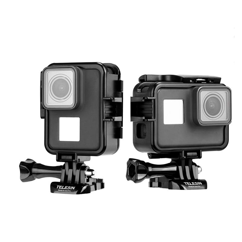 nouveaux prix plus bas de gros aliexpress US $10.63 20% OFF|Newest TELESIN go pro Protecive Case Vertical frame mount  holder for gopro hero 7 black Hero 6 5 gopro7 camera accessories-in Sports  ...
