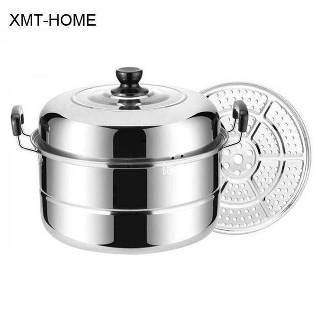 XMT HOME Kitchen Utensil Thick Soup Pots Steamer Pans Kitchen Cooking  Induction Gas Universal Boilers