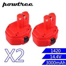 2PACKS 2000mAh 14.4V Ni-MH FOR MAKITA 1420 Rechargeable Battery: 1420 1422 1433 1434 1435 1435F 192699-A 193158-3 192600-1 стоимость