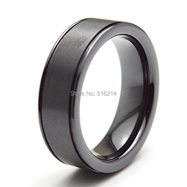 New Arrival Supernova Sale  Men Jewelry  Ceramic Rings Balck Rings For Party Engagement Jewelry Matte Finished CE006R