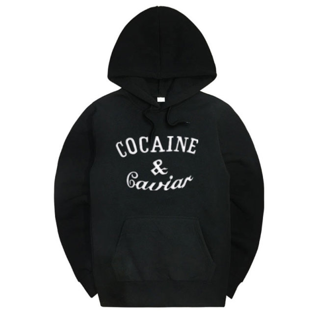 2017 New Cocaine Caviar Hoodies Men Hip Hop Hoodies Sweatshirts Fashion New Design Men's Casual Brand Clothing