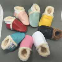 Winter Baby Toddler Shoes Girls Boys First Walkers Newborn Shoes Genuine Leather Soft Sole Shoes
