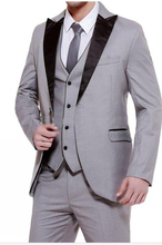Groom, best man, one click, best suit man, wedding men's suit, custom (jacket + pants + Vest + tie) k233