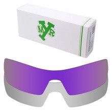 2 Pieces MRY POLARIZED Replacement Lenses for Oakley Oil Rig Sunglasses Silver Titanium & Plasma Purple