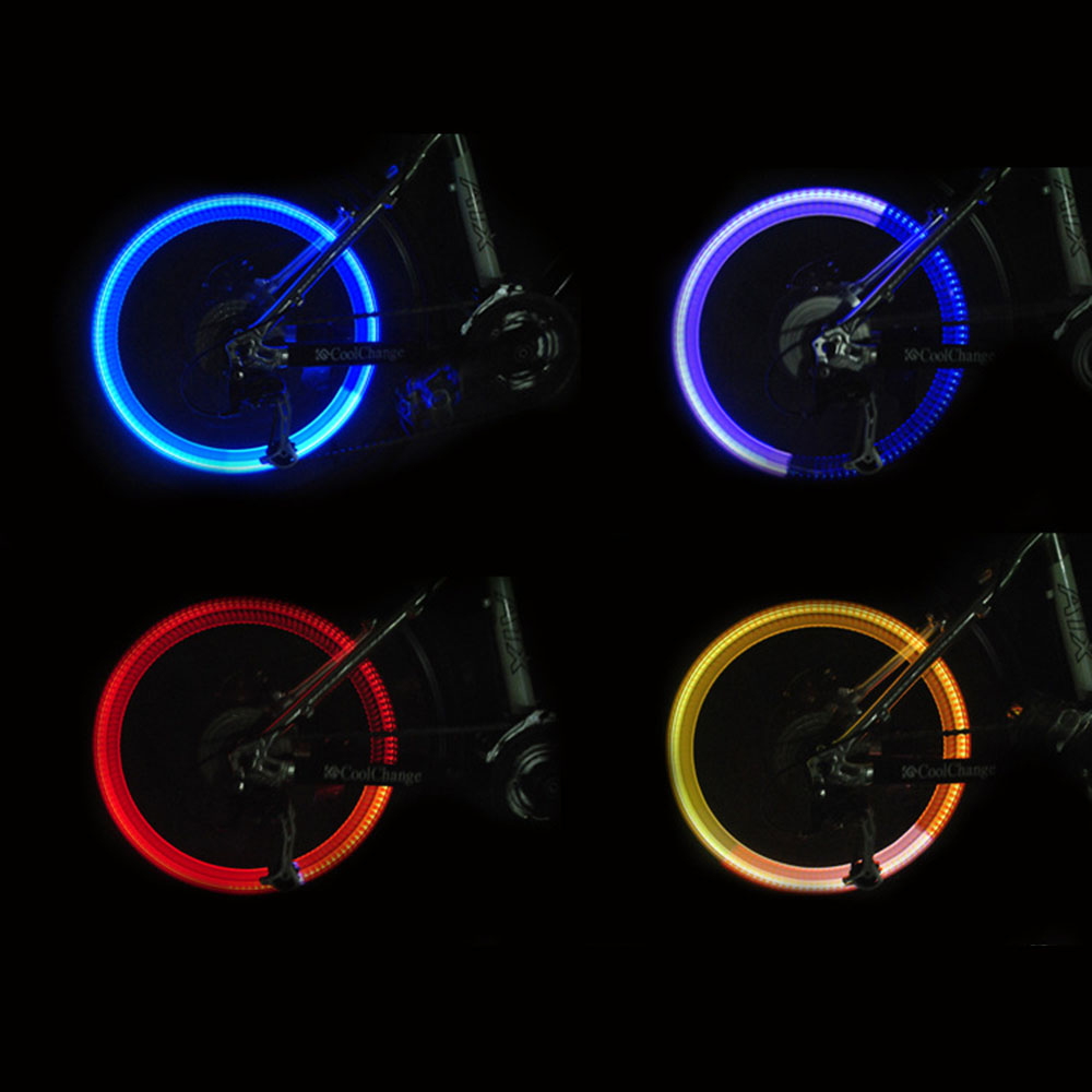 Bicycle Fashion Car Motorcycle LED Bike Flash Lamp Blue Tyre Valve Cap Light