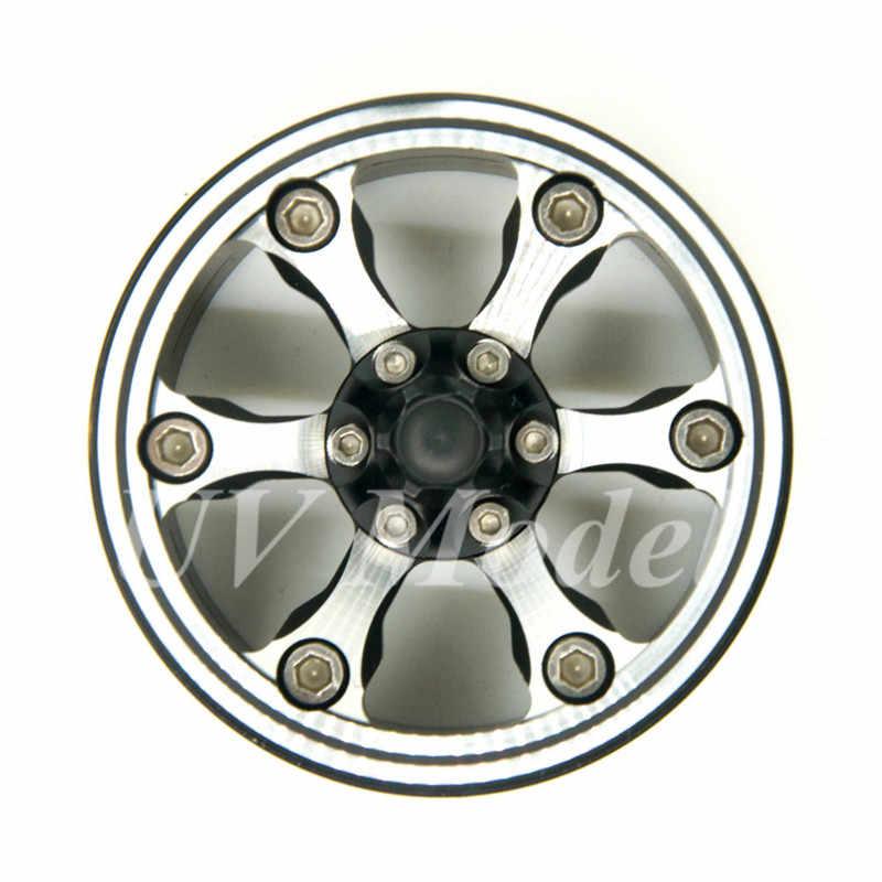 """4 Stks RC Auto Vrachtwagen Crawler Wielen CNC Zwart 1.9 """"lichtmetalen Beadlock Velg Hub voor 1/10 RC Crawler SCX10 1.9 inch Wielbanden Tyre"""