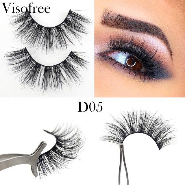 03fac7fcfab Visofree False Eyelashes Handmade Cruelty Free 3D Mink Lashes Luxury  Wimpers Eyelashe Beauty Eyelash 3D Eyelash Extensions D05