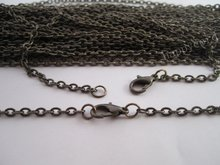 Free shipping Wholesale 2mm 17inch Antique Bronze
