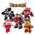 NEW hot 4pcs/set 8cm Robot Trains Transformation Kay Alf Dynamic Train Family Deformation Train Car action figure toys toy doll