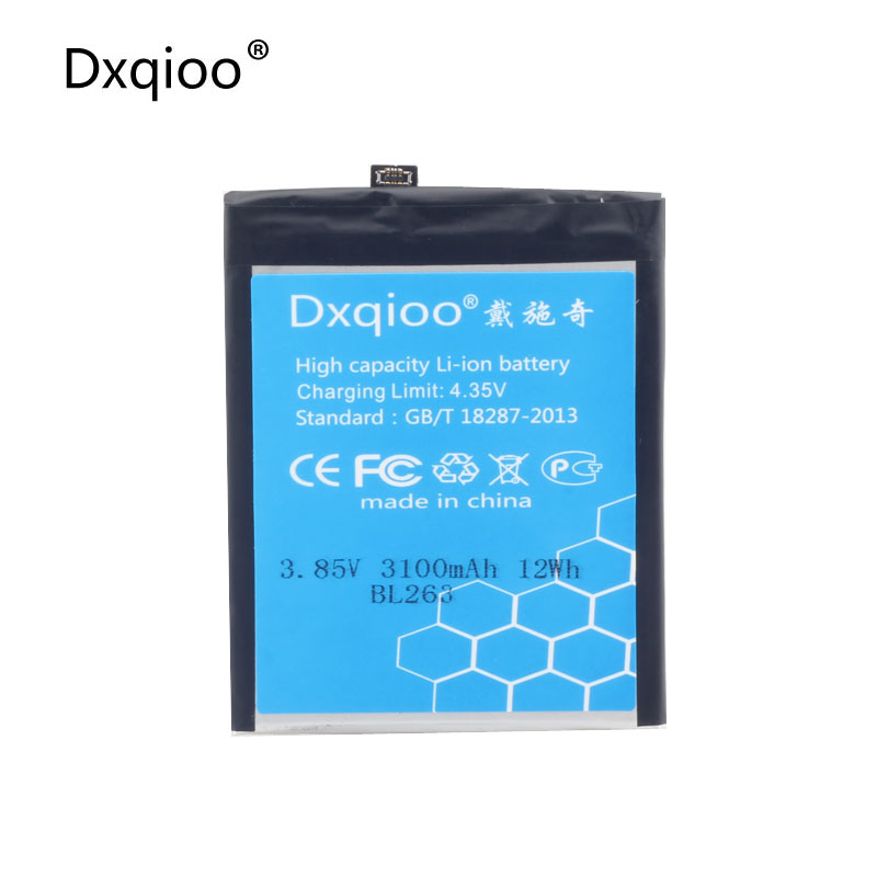 Dxqioo BL263 battery fit for lenovo ZUK Z2 pro batteries