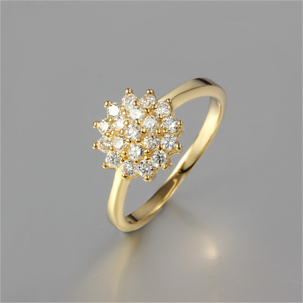 Flower Ring Fashion Simple Finger Rings Wedding Jewelry
