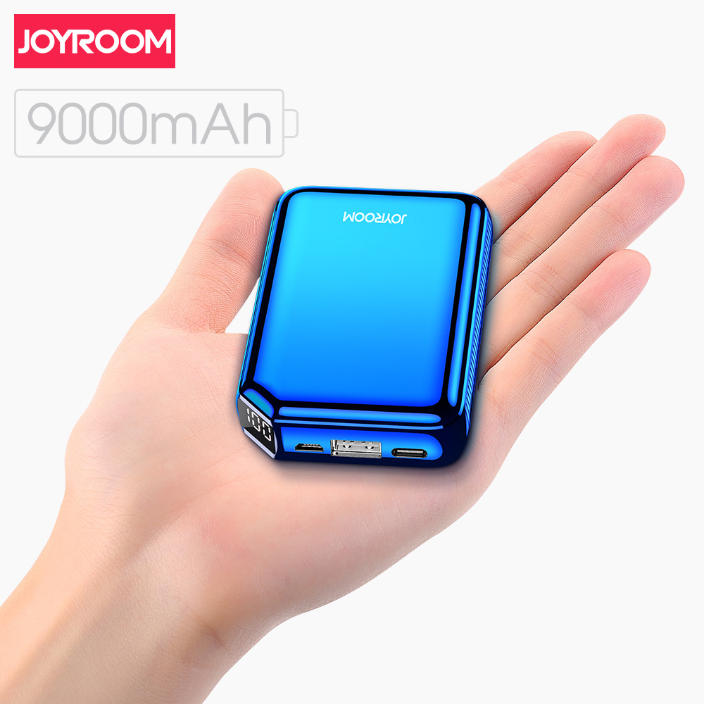 Joyroom 9000mAh Power Bank 5V 3.1A Fast Charger LED Type c USB Port External Battery Pack Powerbank for iPhone Samsung Huawei|Power Bank| |  - title=