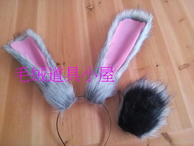Movie Zootopia Rabbit Cosplay Ears Zootopia Judy Cosplay Tail Rabbit Tail Pink Rabbit Ear