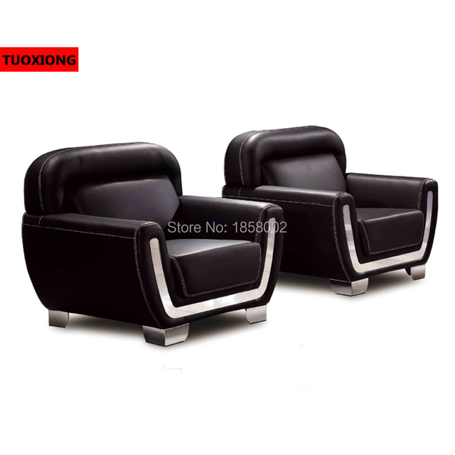 Business Office Sofa Furniture Coffee Table Set Salon Commercial Executive Leather Chair