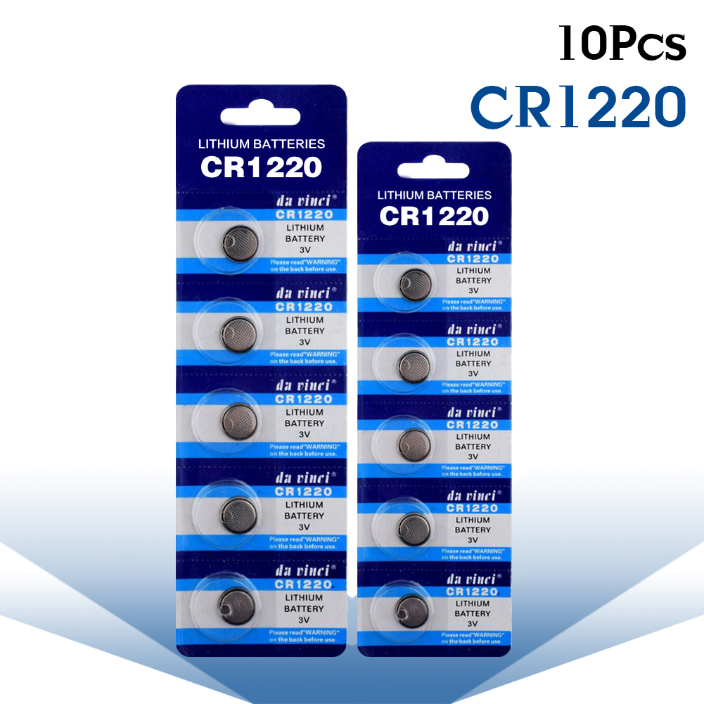 цена на YCDC 10pcs/lot CR1220 DL1220 BR1220 ECR1220 KCR1220 LM1220 Button Cell coin Battery for watch ,3V CR1220 Lithium Battery