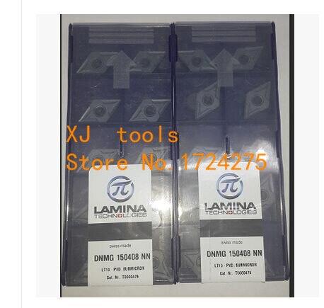 Freies Verschiffen 10 Stücke DNMG150408NN LT10 hartmetalleinsatz schneidwerkzeuge drehen, wendeschneidplatten drehwerkzeug