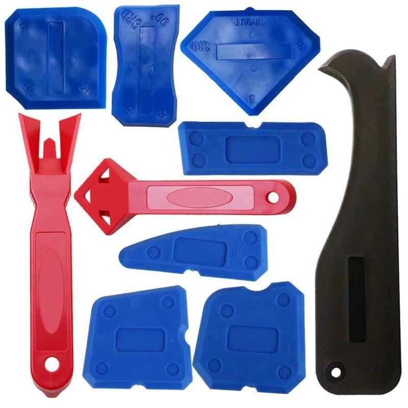 10 Piece Caulking Tool Kit Caulking Plastic Scraper Shovel Glass Glue Utility Knife Home Improvement Tool
