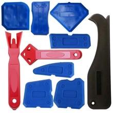 10 Piece Caulking Tool Kit Plastic Scraper Shovel Glass Glue Utility Knife Home Improvement