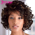 Women Hair Wig Short Curly Wigs for Black Women African American Wig Natural Brown Wig Perruque Synthetic Women Sia Rapunzel