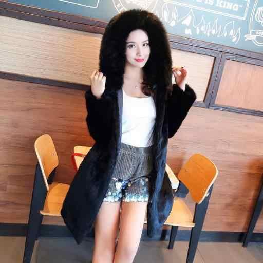 Новинка, женские пальто из искусственного меха 2019, женские черные пальто из искусственного меха норки с длинным рукавом, женские топы, теплая пушистая верхняя одежда, теплая куртка G752