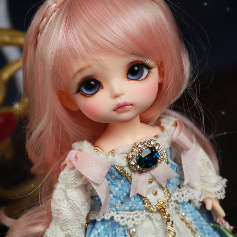 1/8 BJD Doll BJD/SD Fashion Cute Yellow Happy Doll With Eyes For Baby Girl Birthday Gift 1 8 bjd doll bjd sd fashion cute miu with eyes for baby girl gift full set doll clothes shoes wig like picture