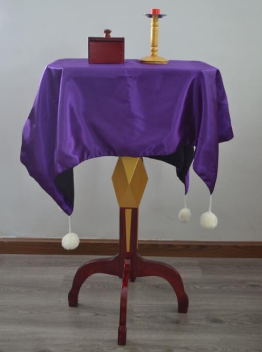 Mesa flotante multifunción (Caja Anti gravedad + candelabro de metales) trucos de magia, escenario, ilusión, accesorios, mentalismo, comedia