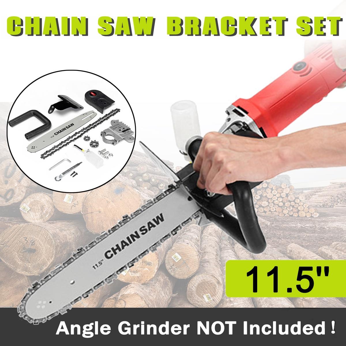 Drillpro actualización 11,5 pulgadas motosierra soporte cambió 100 de 125 de 150 amoladora de ángulo M10/M16 en sierra de cadena herramienta para trabajar la madera