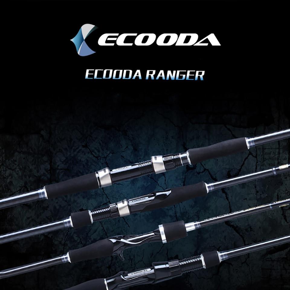 Ecooda Ranger Freshwater/Saltwater Spinning Fishing Rod , Light Carbon Fiber Casting Lure Fishing Rod