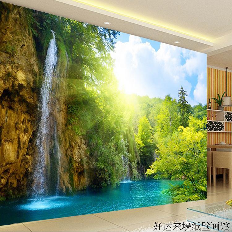 Custom 3d mural Large TV wall mural beautiful scenery
