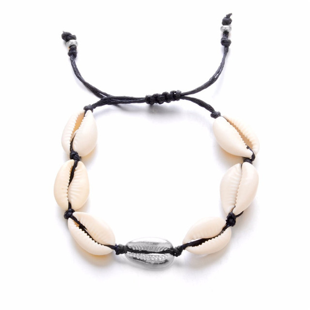 Bohemian Puka Sea Shell Conch Anklets For Women Ankle Bracelet on Leg Chain Silver Gold 3