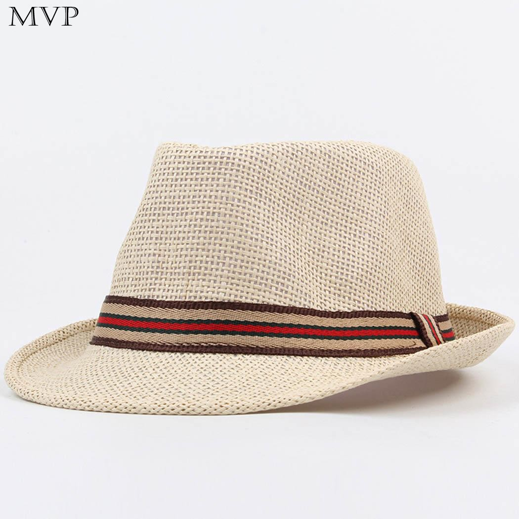 Summer Sun Hats for Women Men Unisex Fashion Summer Spring British Style Straw Hat Braided Casual Beach Hat