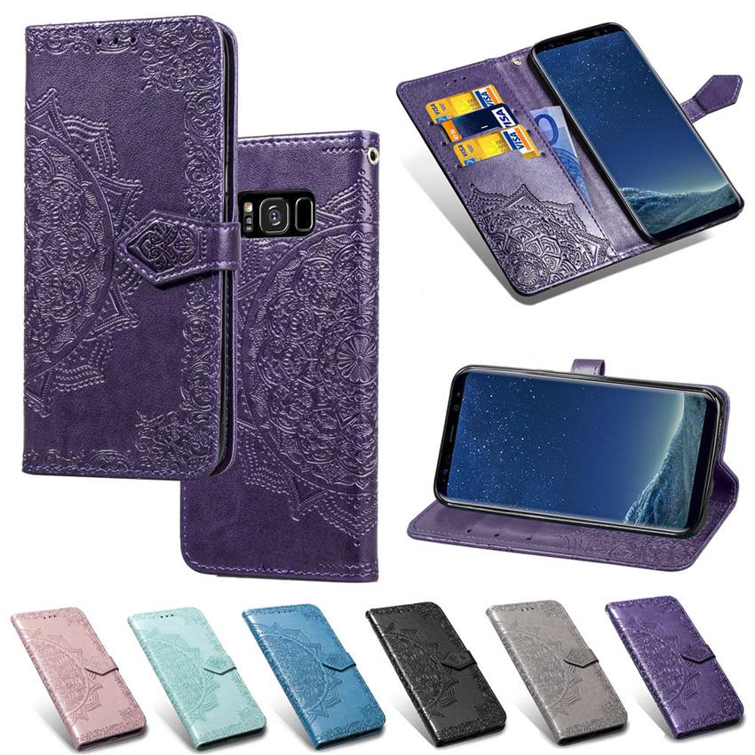 <font><b>Flip</b></font> Wallet <font><b>Case</b></font> For <font><b>Samsung</b></font> Galaxy S10 S9 S8 PLUS S7 <font><b>S6</b></font> edge Cover Full Curved Screen Protector For Galaxy S10E NOTE 8 9 Films image