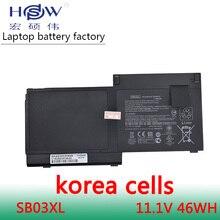 New Genuine 11.25V 46wh 3950mAh SB03XL battery for Hp Elitebook 820 G1 Notebook Pc Hstnn-i13c 716726-421 E7u25ut