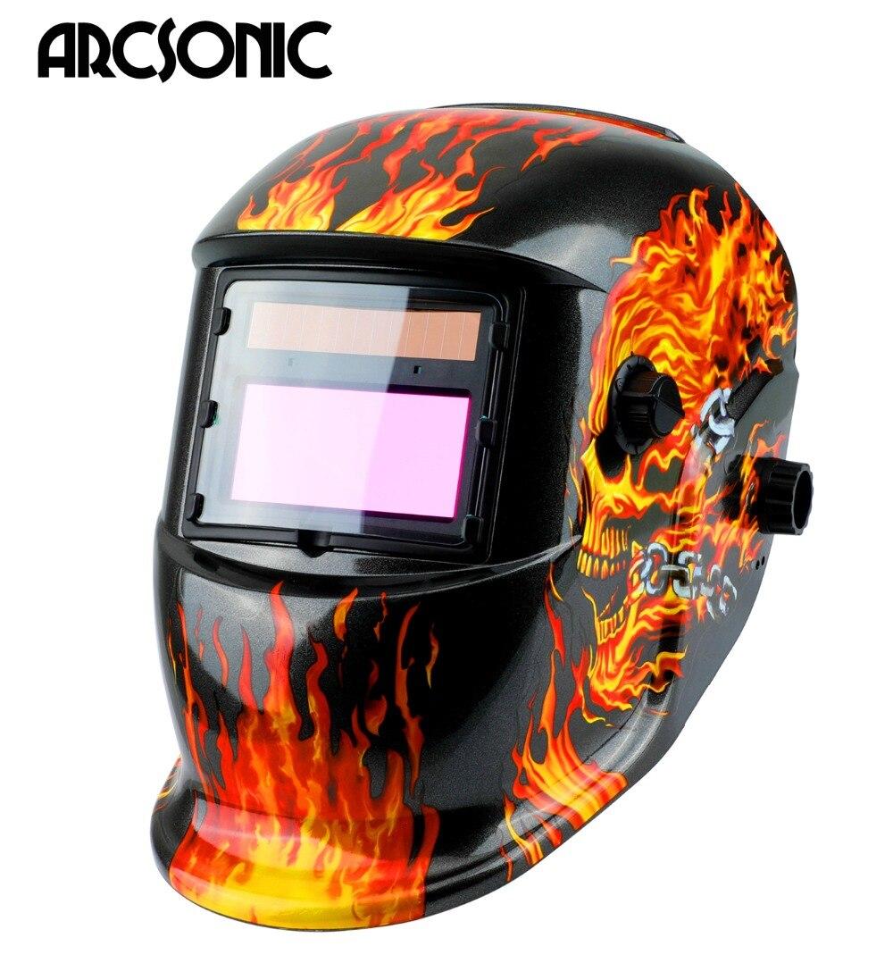 Auto Assombrissement casque de soudage masque MIG MMA TIG Soudage Masque/Casque de soudage Lentille pour Machine De Soudage