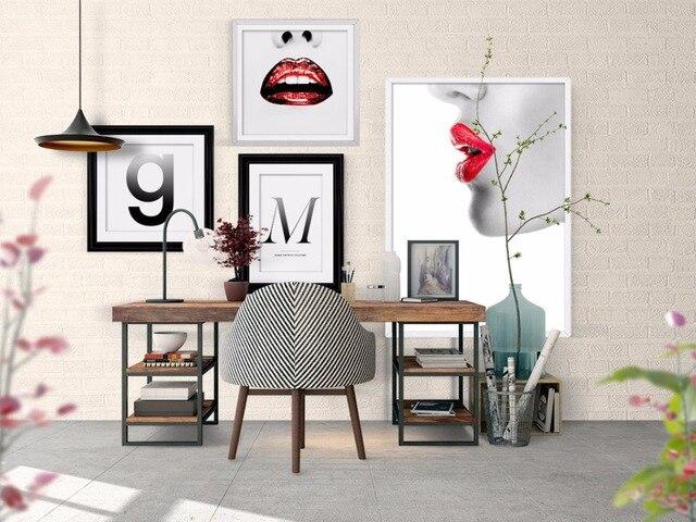 Moderno rosso labbra del sesso ragazza pittura immagini a parete per