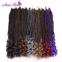 Amir Senegalese Twist Crochet Braids Synthetic Braiding Hair Extensions for Women 30strands