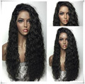 Hot!Afro Loose Curly Synthetic Lace Front Wig Natural Black Heat Resistant Fiber Hair Wig Curly Synthetic Wigs Off Black 1b#