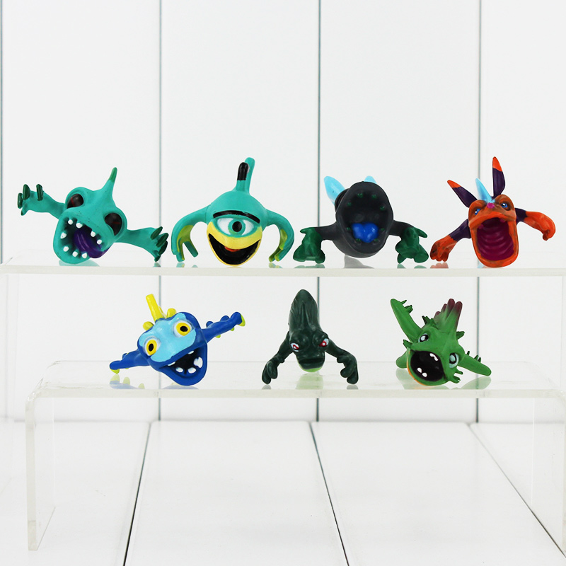 Oyuncaklar ve Hobi Ürünleri'ten Aksiyon ve Oyuncak Figürleri'de Sıcak 5 setleri 14 adet/takım Anime Karikatür 3 4 cm Mini Slugterra Dekorasyon PVC Aksiyon Figürleri Oyuncak Bebekler çocuk oyuncakları'da  Grup 3