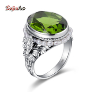 Szjinao Charm Oval Natural Pearl Ring Vintage Birthstone Olive Carving Silver 925 Ring Bulgaria Jewelry for Women Antique Rings